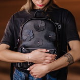 Скидка -15% Рюкзак черный кожаный Pilot S flowers
