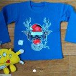 Класнючі новорічні реглани Лось в наушниках для вашої малечі