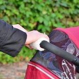 Утеплитель мини муфты на ручку коляски на овчине новые