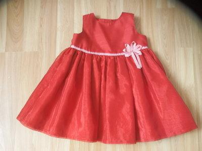 Фирменное нарядное платье M&S малышке 1-1,5 года состояние