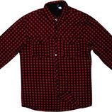 Мужская рубашка в клетку цветная красная черная яркая H&M Divided M
