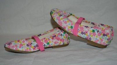 Фирменные туфли балетки в цветочки девочке 26 размер 17 см