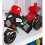 Мотоцикл чорний Я-Маха,акум., 6V/4A, Оріон 372