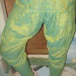 Легкие штаны в индийском стиле,голифэ из натурального хлопка.Ткань-хамелеон.XS,S,M,L,42-44,46,48