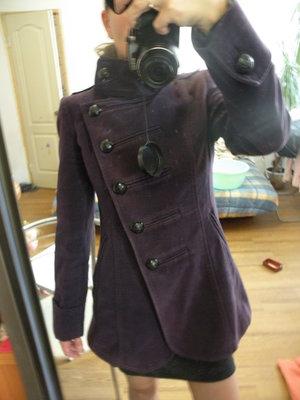 Next пальто осень весна фиолетовое размер S