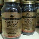 Solgar, Солгар, Омега 3, рыбий жир 950мг 100капс