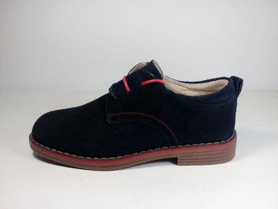 Класическая обувь для мальчика из натуральной замши.