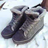 Кеды зимние натуральные