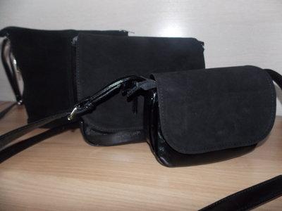 Замшевая сумочка через плече Камелия натуральный замш