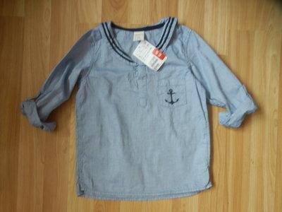 Новая фирменная рубашка H&M малышу 1,5-2 года