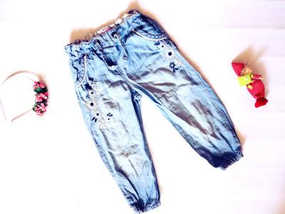 Легкие джинсы 5-6 лет длина 48см
