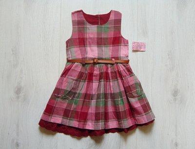Новое стильное платье для девочки. Пояс в комплекте. Matalan. Размер 12-18 месяцев
