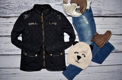 Фирменная обалденная курточка куртка стеганная супер моднице 10 - 11 лет