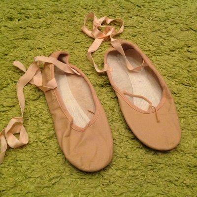 Кожаные балетки 24 см