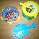 Набор музикальных инструментов с Барсуком