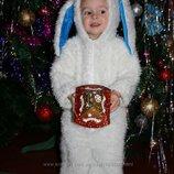 Новогодний костюм зайчика на 2 года на прокат 100 грн