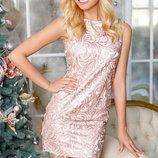 Коктейльное платье люрекс