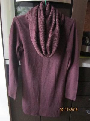 теплая фиолетовая туника-платье разм. м