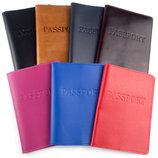 Обложка на паспорт кожаная ST разные цвета