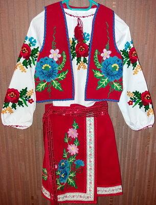 Украинский костюм Панна с сапожками р. 32-34 Прокат