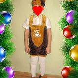 Новогодний карнавальный костюм мишка медведь медвежонок 3 4 5 лет
