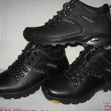 Зимние ботинки полуспорт натур. нубук натур.мех р.40-45 модель В2065Aero
