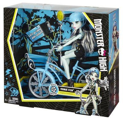 Monster High Frankie Stein Doll & Vehicle Кукла Френки Штейн серия на велосипеде
