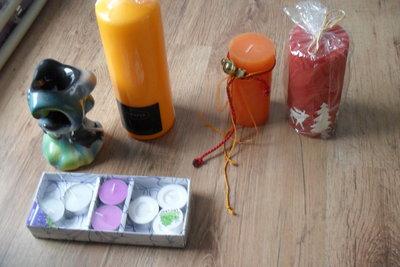 свечи декоративные, аромолампа