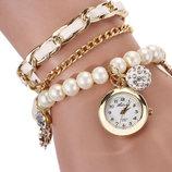 Наручные женские часы c жемчугом