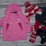 86 - 92 см Фирменная яркая зимняя лыжная термо куртка деовчке Германия