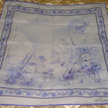 платок Leonardi принт На лугу полиэстер 75Х75 идеал Hermes Chanel косынка