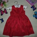 Нарядное платье M&S 12-18мес 74-86см Мега выбор обуви и одежды