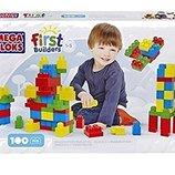 mega bloks first builders Первые строители 100 деталей классический