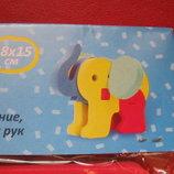 Мягкий конструктор пазл Слон, Собака