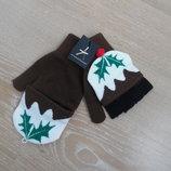 перчатки 10-16 лет варешки новый год девочке детские Atmosphere Атмосфера подарок с биркой