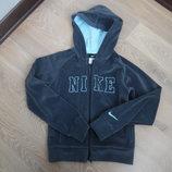 спортивная кофта 140-152 см оригинал детский серый девочке Nike Найк мальчику