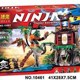 Конструктор Bela Ninja 10461 аналог Lego Ninjago 70604 Тигровый остров вдов