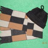 Комплект флисовый шапка и шарф