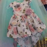 Красивое платье для девочки со шлейфом. Турция. Есть размеры