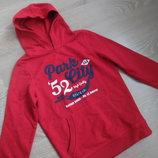 спортивный костюм 128 см свитер ватник пуловер красный Palomino Паломино новый мальчику с начесом