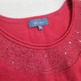 кофта красная 14 рр новый год яркая модная женская зимняя per una
