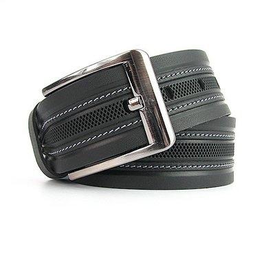 Ремень кожаный мужской под джинсы черный Bond 53035 Турция