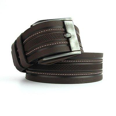 Ремень кожаный мужской под джинсы кофе Bond 53135 Турция