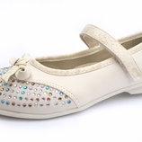 Белые нарядные туфли для девочки 27,29,30,31,32 р. Школьные