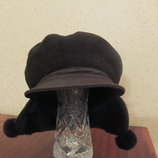 Прикольная зимняя шапка, новая, размер 56