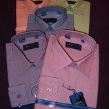 Рубашки коттон 100% однотонные р.26-36
