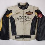 Курточка деми для мальчика на рост 134-140 см, Kiabi Moto grand prix