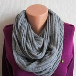 Вязаный шарф снуд с серебристой нитью star by julienmcdonald, debenhams