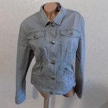 Куртка джинсовая фирменная серая Yessica размер 50 состояние новой