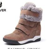 сникерсы женские Кожаные зимние теплые изабель марант ботинки